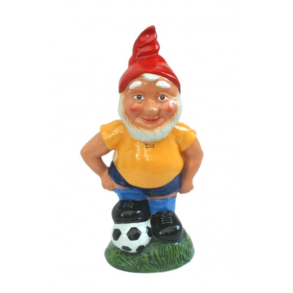 Idée cadeau football : Robert, le nain de jardin footballeur