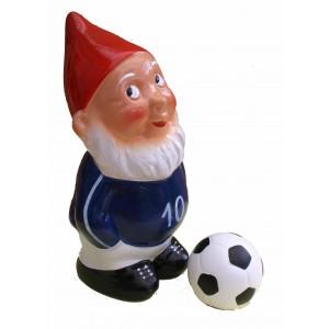 Idée de cadeau orginal football : Nain de jardin Martin le coquin footballeur