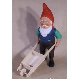 Marcel le jardinier avec sa brouette