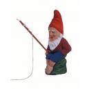 Heinz le petit pêcheur avec sa canne à pêche